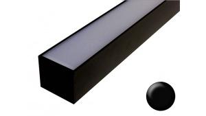 2 Linéaires led pour éclairage Véranda Pergola - Sur mesure - Aluminium - Noir