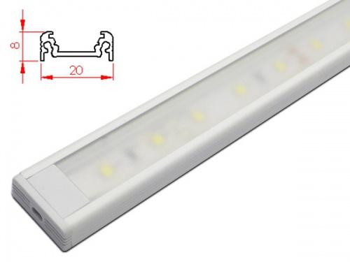 Réglette LED plan de travail cuisine - plate 208 - Blanc