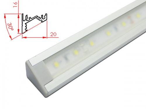 Réglette LED inclinée plan de travail cuisine ikea 2016 - Aluminium