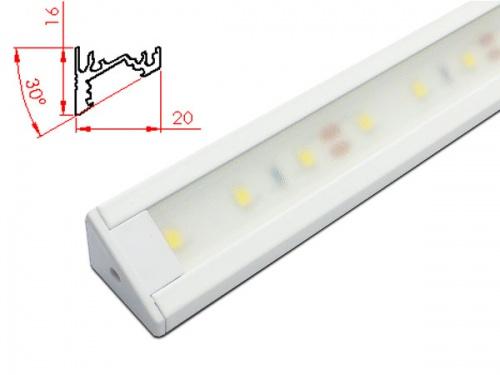 Réglette LED inclinée plan de travail cuisine ikea 2016 - Blanc