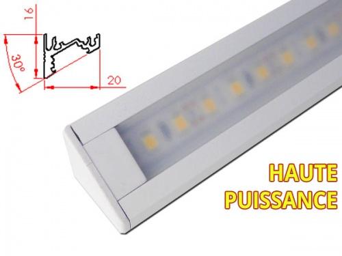 Rampe LED plan de travail reglette led angle cuisine