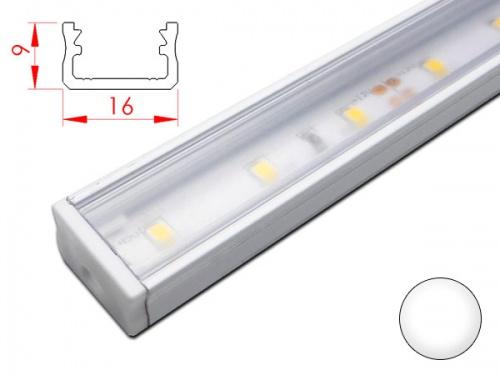 Réglette LED plan de travail cuisine - plate 169 - Aluminium