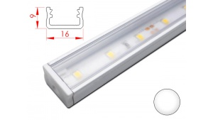 Réglette LED plate - 16x9mm - Couleur Blanche + Alimentation 12V