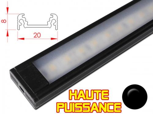 Réglette profilé LED Haute puissance pour plan de travail cuisine - plate 208 - Aluminium
