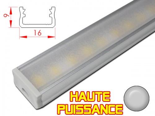 Réglette profilé LED Haute puissance pour plan de travail cuisine - plate 169 - Aluminium