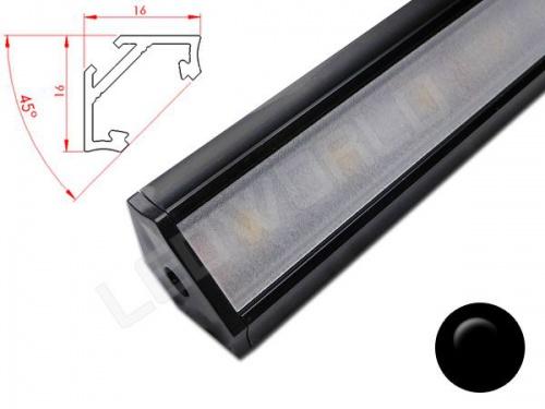 Réglette LED plan de travail cuisine - angulaire 1616 - Aluminium