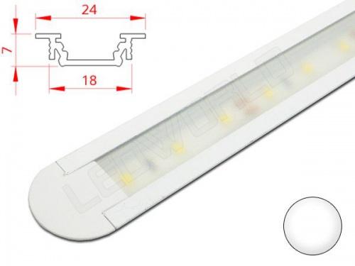 Réglette LED plan de travail cuisine - encastrable 247 - Aluminium