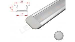 Réglette LED Encastrable - 21x9mm - Aluminium + Alimentation 12V