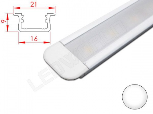 Réglette LED Encastrable - 21x9mm - Aluminium + Alimentation 12V