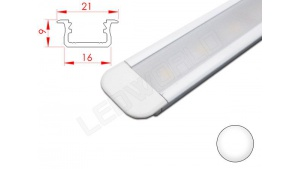 Réglette LED Encastrable - 21x9mm - Blanche + Alimentation 12V