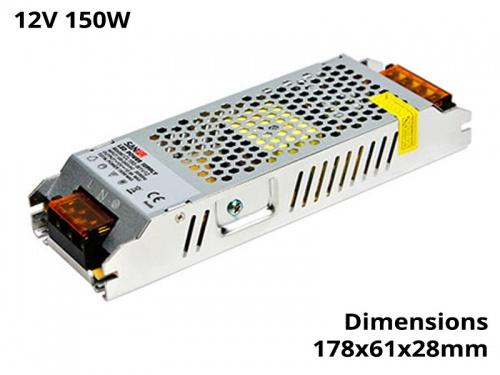 Alimentation Transformateur Convertisseur Ruban Led 150 Watts 12V