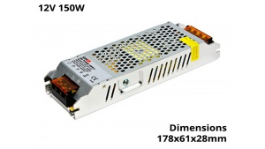 Alimentation Transformateur Ruban Led 150 Watts 12V