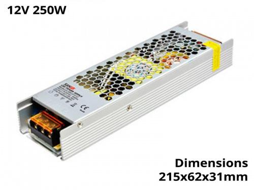 Alimentation Transformateur Convertisseur Ruban Led 250 Watts 12V