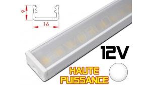 Réglette LED plate Haute Puissance 16x9mm - Couleur Blanche Camping Car/Utilitaire 12V