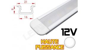 Réglette LED Encastrable Haute Puissance 21x9mm - Couleur Blanche Camping Car/Utilitaire 12V