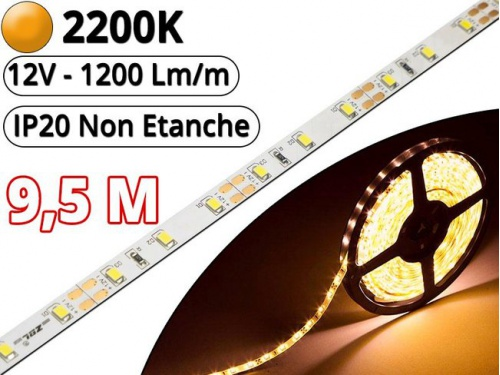 Ruban Led Pro Blanc Extra Chaud 2200K - 9,5 mètres-IP20