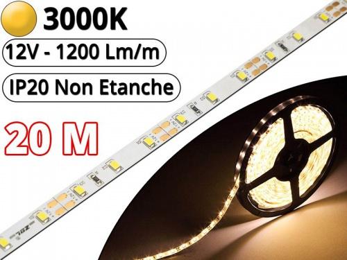 Bande DEL 30 cm; 12 V étanche ip65 18 DEL; Blanc Chaud 3000k