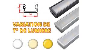 Réglette LED Plate 16x9mm-Changement Température (CCT) + Alimentation 24V