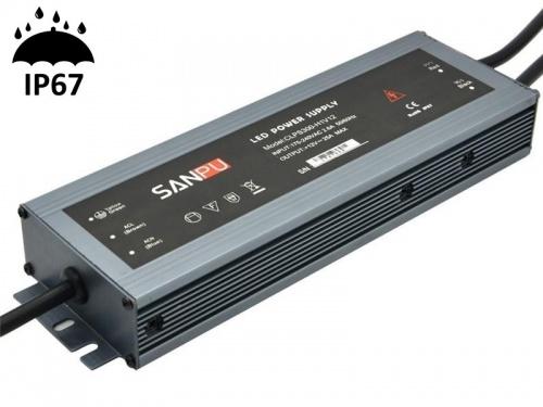 Alimentation Transformateur à découpage pour LED Etanche IP67 300 Watts 24V