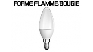 Forme Flamme Bougie