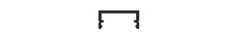 Profilé Aluminium Plat/Saillie